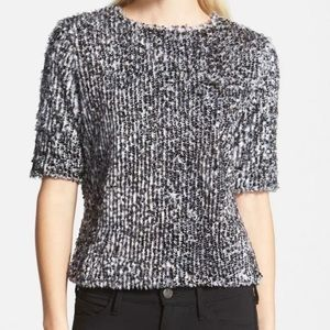 Search For Sanity Fur Fuzzy Sequin Top Sweater